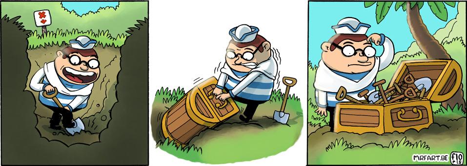 Captain Anchovy 170 Shovel Treasure