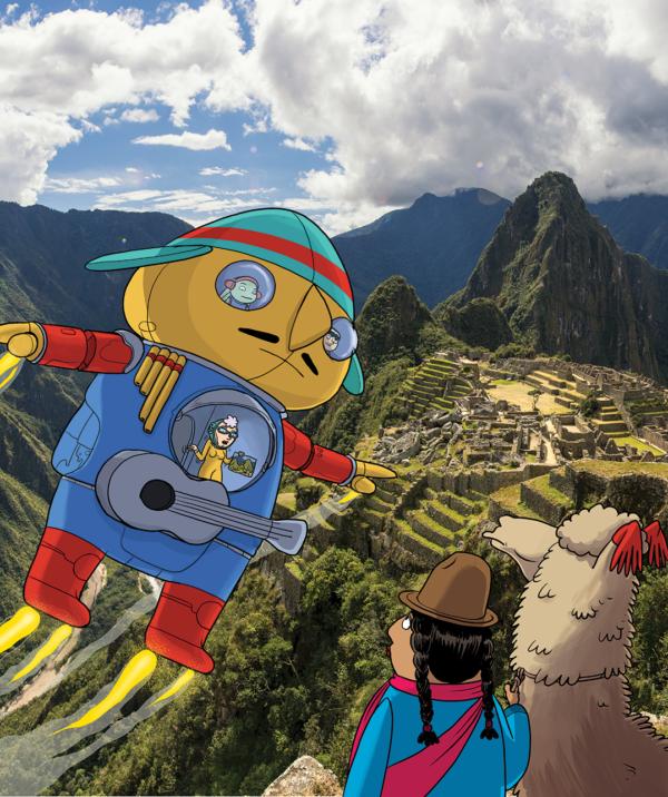fakkeltjes in Peru
