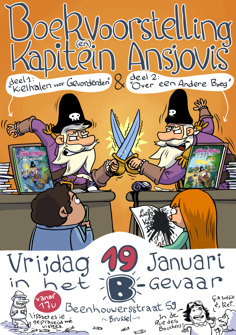 Boekvoorstelling Kapitein Ansjovis Album 1 & 2 – 19 januari