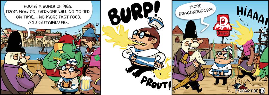 Captain Anchovy Dragon Burgers