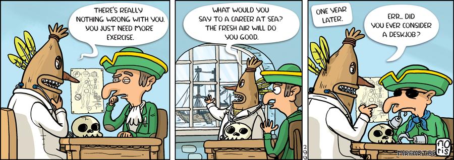 Captain Anchovy Desk Job