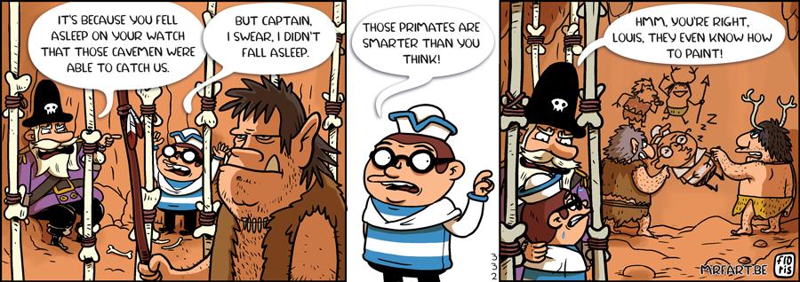 Captain Anchovy Cavemen